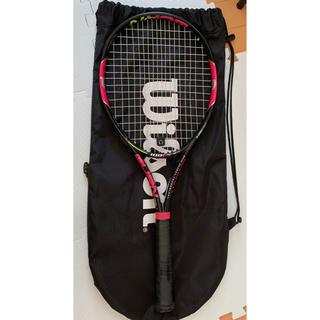 ウィルソン(wilson)のウィルソン テニスラケット ラケット ピンク Wilson burn100LS(ラケット)