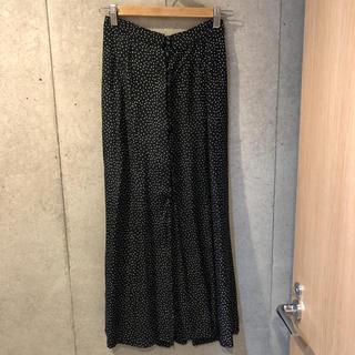 フィーニー(PHEENY)のフィーニー ドットワンピース 黒 サイズ1(ロングスカート)