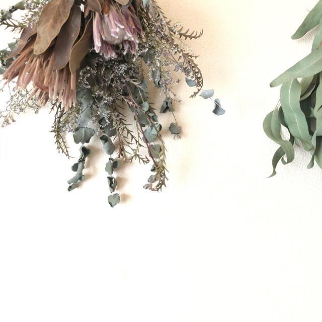 ドライフラワー スワッグ ハンドメイドのフラワー/ガーデン(ドライフラワー)の商品写真