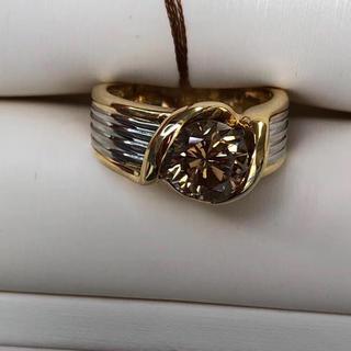 天然ブラウンダイヤモンド リング 11.5号 高品質(リング(指輪))