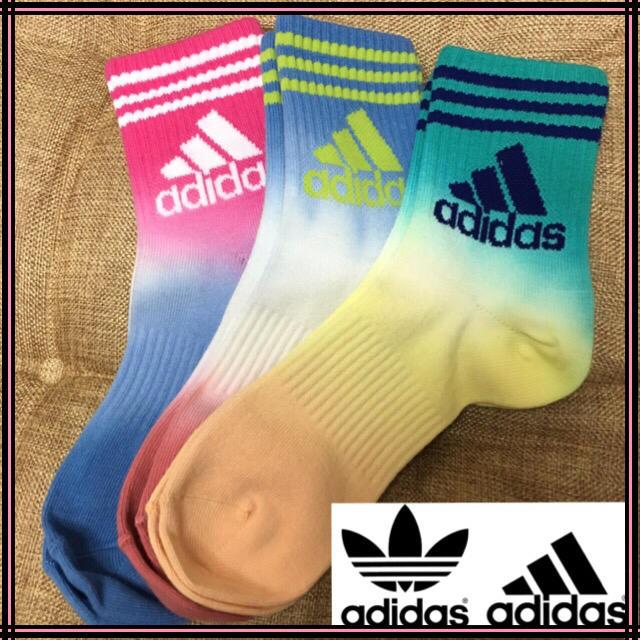 adidas(アディダス)のadidas♡春色グラデーションソックス レディースのレッグウェア(ソックス)の商品写真
