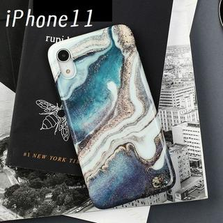 大人気! iPhone11 ケース カバー マーブル プリント(iPhoneケース)