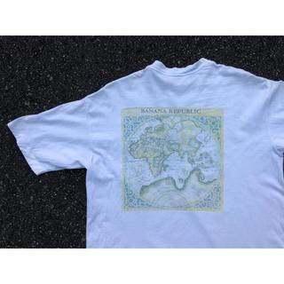 バナナリパブリック(Banana Republic)の90s バナナリパブリック BANANA REPUBLIC 地図柄 usa製(Tシャツ/カットソー(半袖/袖なし))