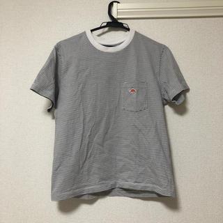 ダントン(DANTON)のDANTON ボーダーTシャツ(グレー)(Tシャツ(半袖/袖なし))