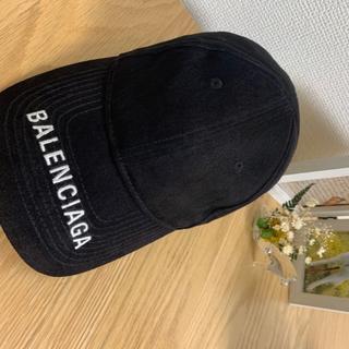 バレンシアガ(Balenciaga)のBALENCIAGAブラックキャップ【正規品】(キャップ)
