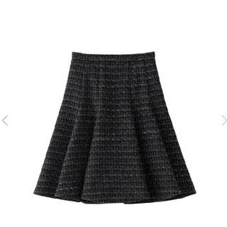 アベニールエトワール(Aveniretoile)のAveniretoile COUTURE オリジナルツイードフレアスカート(ひざ丈スカート)