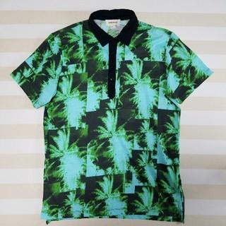 ディーゼル(DIESEL)のDIESEL ディーゼル 総柄 ポロシャツ S 黒 緑 アロハシャツ(ポロシャツ)