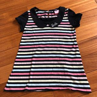 バービー(Barbie)のバービーボーダートップス130(Tシャツ/カットソー)