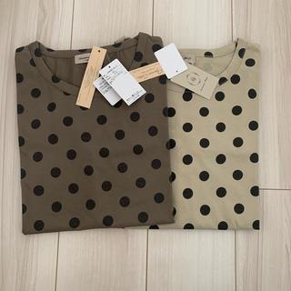 サマンサモスモス(SM2)の新品未使用 タグ付き サマンサモスモス ドット 水玉Tシャツ 2枚セット(Tシャツ(半袖/袖なし))