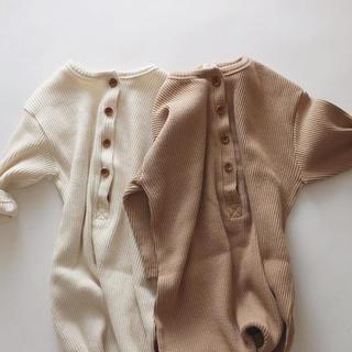韓国子供服 リブロンパース(ロンパース)