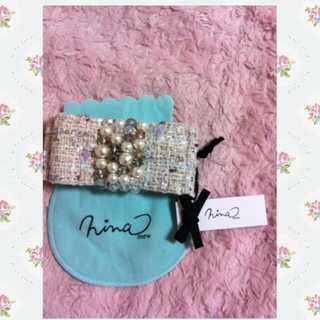 ニーナミュウ(Nina mew)の新品ninamewツイードリボンバレッタ(ヘアゴム/シュシュ)