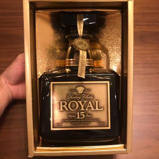 サントリー(サントリー)の【終売品】サントリー ローヤル15年 ゴールドラベル 750ml 43% 箱付き(ウイスキー)