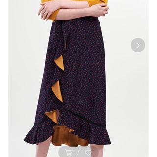 スリーフォータイム(ThreeFourTime)のJines ニューヴィーナスデシンロングラッフルスカート 新品未使用タグ付き(ロングスカート)