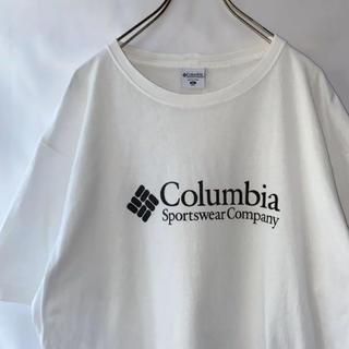 コロンビア(Columbia)の〔レア〕90's Columbia ロゴ Tシャツ 古着 アウトドア 白 XL(Tシャツ/カットソー(半袖/袖なし))