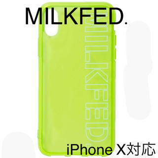 MILKFED. - 「新品」MILKFED. CLEAR STENCIL iPhone CASE