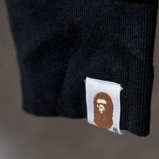 アベイシングエイプ(A BATHING APE)のA bathing ape ロングTシャツ S ブラック(Tシャツ/カットソー(七分/長袖))