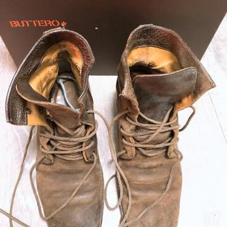 ブッテロ(BUTTERO)のBUTTERO ブッテロブーツ 本革 ヒールブーツ ヒール新品【値下げ不可】(ブーツ)