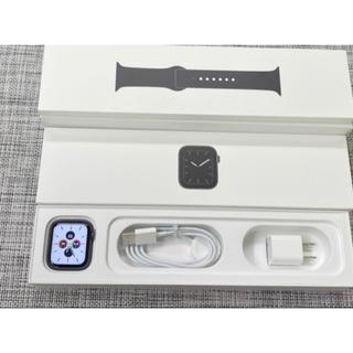 アップルウォッチ(Apple Watch)のApple watch Series5 44mm GPS スペースグレイ(スマートフォン本体)