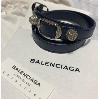 バレンシアガ(Balenciaga)のバレンシアガ ジャイアント スタッズ レザー ブレスレット(ブレスレット/バングル)