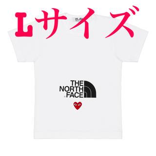 コムデギャルソン(COMME des GARCONS)の新品 メンズ L ノースフェイス プレイ コムデギャルソン コラボ  Tシャツ(Tシャツ/カットソー(半袖/袖なし))