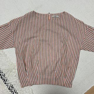 ミスティック(mystic)のmystic トップス 美品 ボーダー(Tシャツ(半袖/袖なし))