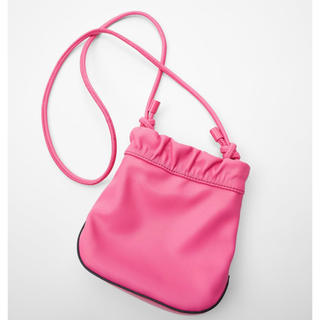 ザラ(ZARA)の新品 今期完売 2020SS ザラ ZARA ミニバケットバッグ かばん ピンク(ショルダーバッグ)