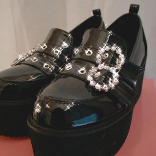 バブルス(Bubbles)の[美品 箱あり]BUBBLES 厚底  ダブルベルトローファー(ローファー/革靴)