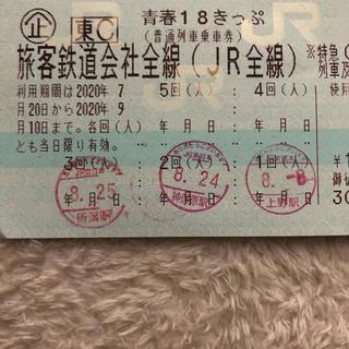 青春18きっぷ残り2回 即日発送from岡山(鉄道乗車券)