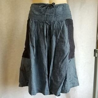 ツモリチサト(TSUMORI CHISATO)の最終処分 ツモリチサト デニム スカート サイズ3(ひざ丈スカート)