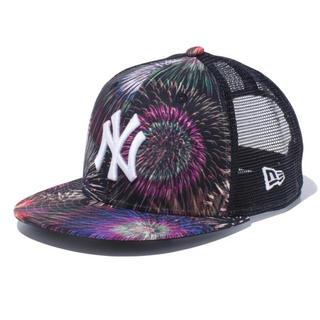 ニューエラー(NEW ERA)の『子供用』NEW ERA 花火 ヤンキース オールオーバー プリント(帽子)