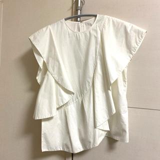 ルシェルブルー(LE CIEL BLEU)のルシェルブルー 変形フリルトップス(シャツ/ブラウス(半袖/袖なし))
