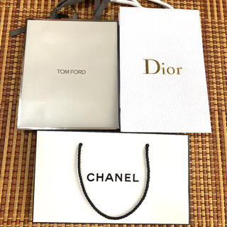 トムフォード(TOM FORD)のトムフォード&CHANEL シャネル&ディオール ショップ袋 空箱(ショップ袋)