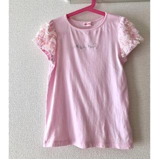 メゾピアノ(mezzo piano)のメゾピアノ ピンク Tシャツ トップス 140(Tシャツ/カットソー)