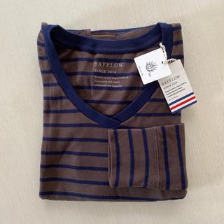 ベイフロー(BAYFLOW)のBAYFLOW  ♡ ストレッチスムースVネック  Tシャツ 長袖(Tシャツ(長袖/七分))