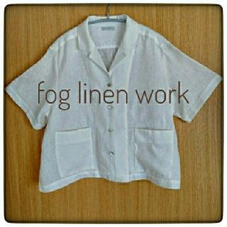 フォグリネンワーク(fog linen work)のfoglinenwork  リネン開襟シャツ(シャツ/ブラウス(半袖/袖なし))