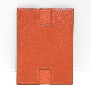 エルメス(Hermes)のエルメス カードケース ロドリグ オレンジ(名刺入れ/定期入れ)