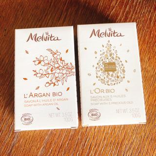 メルヴィータ(Melvita)の新品未使用 メルヴィータ アルガンビオ オイルインソープ+ロルビオ ソープ(ボディソープ/石鹸)