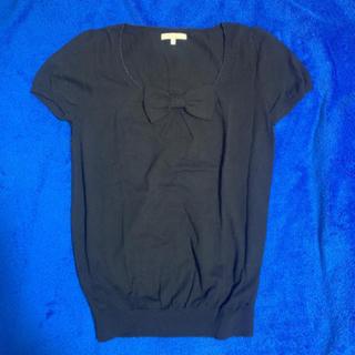 プロポーションボディドレッシング(PROPORTION BODY DRESSING)のプロポーションボディドレッシング 黒半袖 ニット(ニット/セーター)