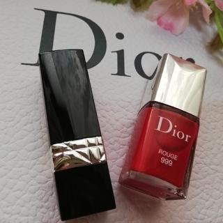 ディオール(Dior)の【非売品】🌹DIOR🌹💅ネイル&口紅💄【新品】#999(その他)