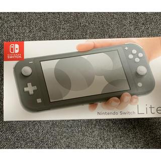 ニンテンドースイッチ(Nintendo Switch)のNintendo Switch Lite グレー ガラスフィルムセット新品未開封(携帯用ゲーム機本体)