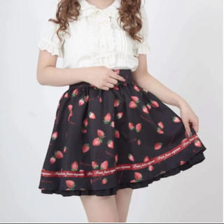 アンクルージュ(Ank Rouge)のAnk Rouge フレアスカート いちご柄(ミニスカート)