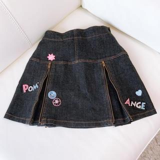 ポンポネット(pom ponette)のPOM PONETTE  junior S デニムスカート 2WAYアレンジ(スカート)