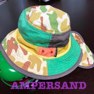 アンパサンド(ampersand)のAMPERSAND キッズハット 50cm カモフラ 日除け付き(帽子)