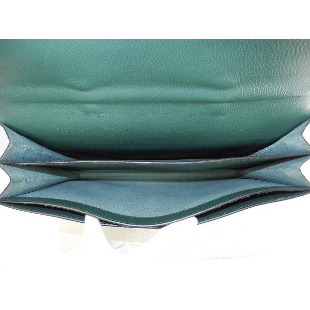 Hermes(エルメス)のエルメス サックアデペッシュ38 フィヨルド緑 ゴールド金具 ブリーフケース@1 メンズのバッグ(ビジネスバッグ)の商品写真