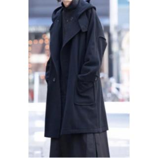ヨウジヤマモト(Yohji Yamamoto)のヨウジヤマモト19aw 4B Double Double Hooded Coat(ステンカラーコート)