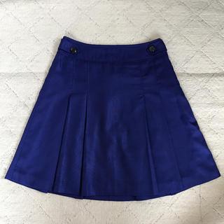 プーラフリーム(pour la frime)のpour la frime ブルー 青 スカート(ひざ丈スカート)