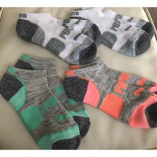 プーマ(PUMA)のプーマ レディース ソックス 靴下  4足セット(ソックス)