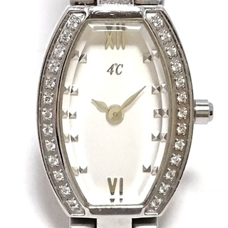 ヨンドシー(4℃)の4℃(ヨンドシー) 腕時計 - レディース 白(腕時計)