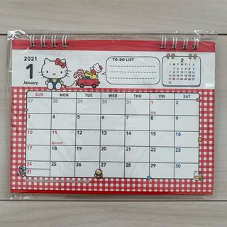 ハローキティ(ハローキティ)のハローキティ 2021年 卓上カレンダー カレンダー サンリオ キティちゃん(カレンダー/スケジュール)
