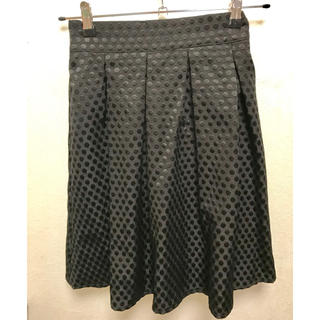 プールスタジオ(pool studio)のpoolstudioalivier 黒ドットスカート(ひざ丈スカート)